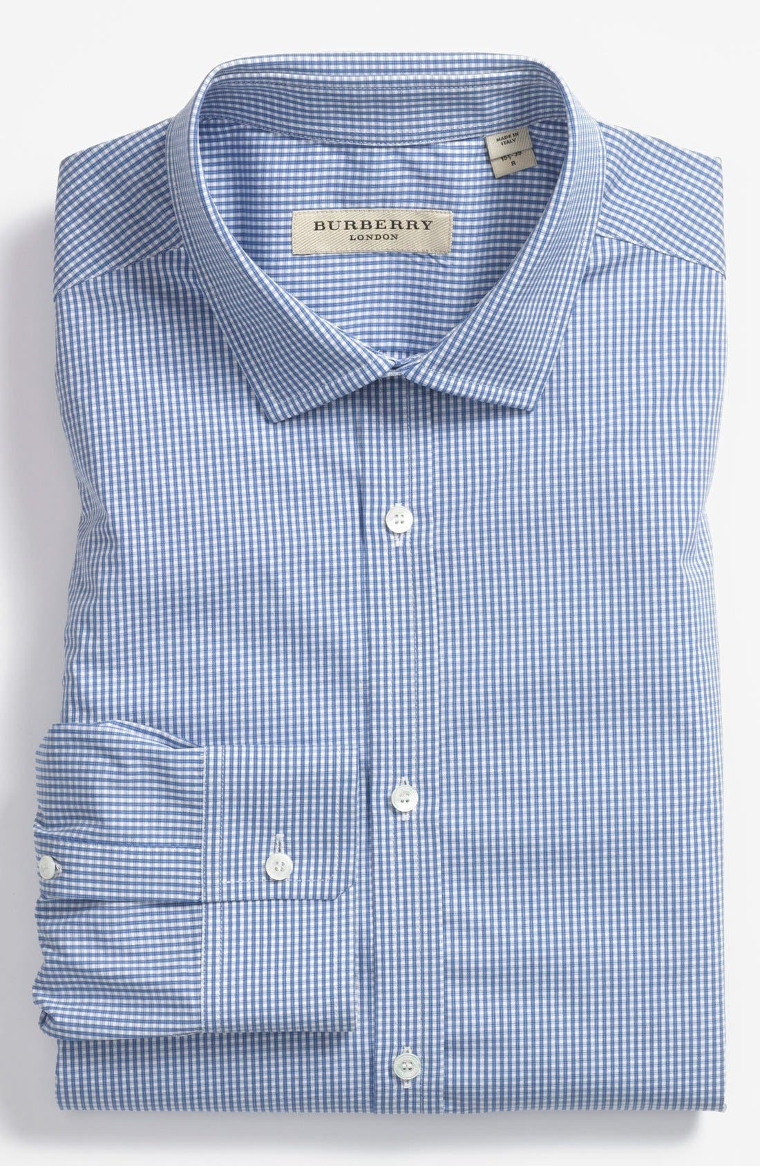 Alternate Image 1 Selected - Burberry London Check Tailored Fit Dress Shirt
