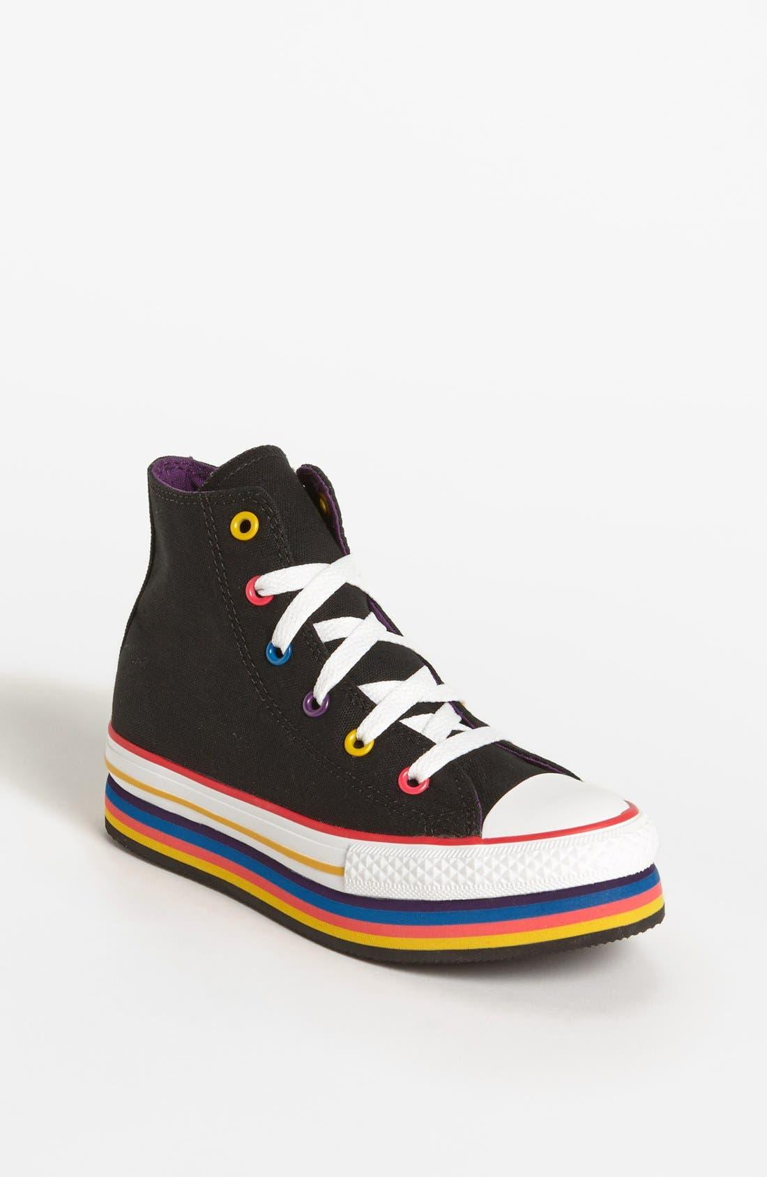 Alternate Image 1 Selected - Converse Chuck Taylor® All Star® Platform Sneaker (Toddler, Little Kid & Big Kid)