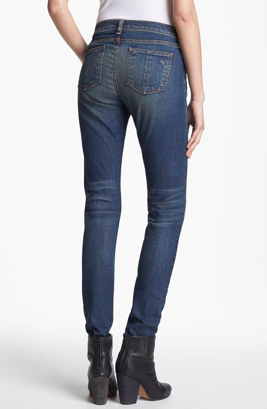 Alternate Image 2  - rag & bone/JEAN Skinny Stretch Jeans (Stratham)
