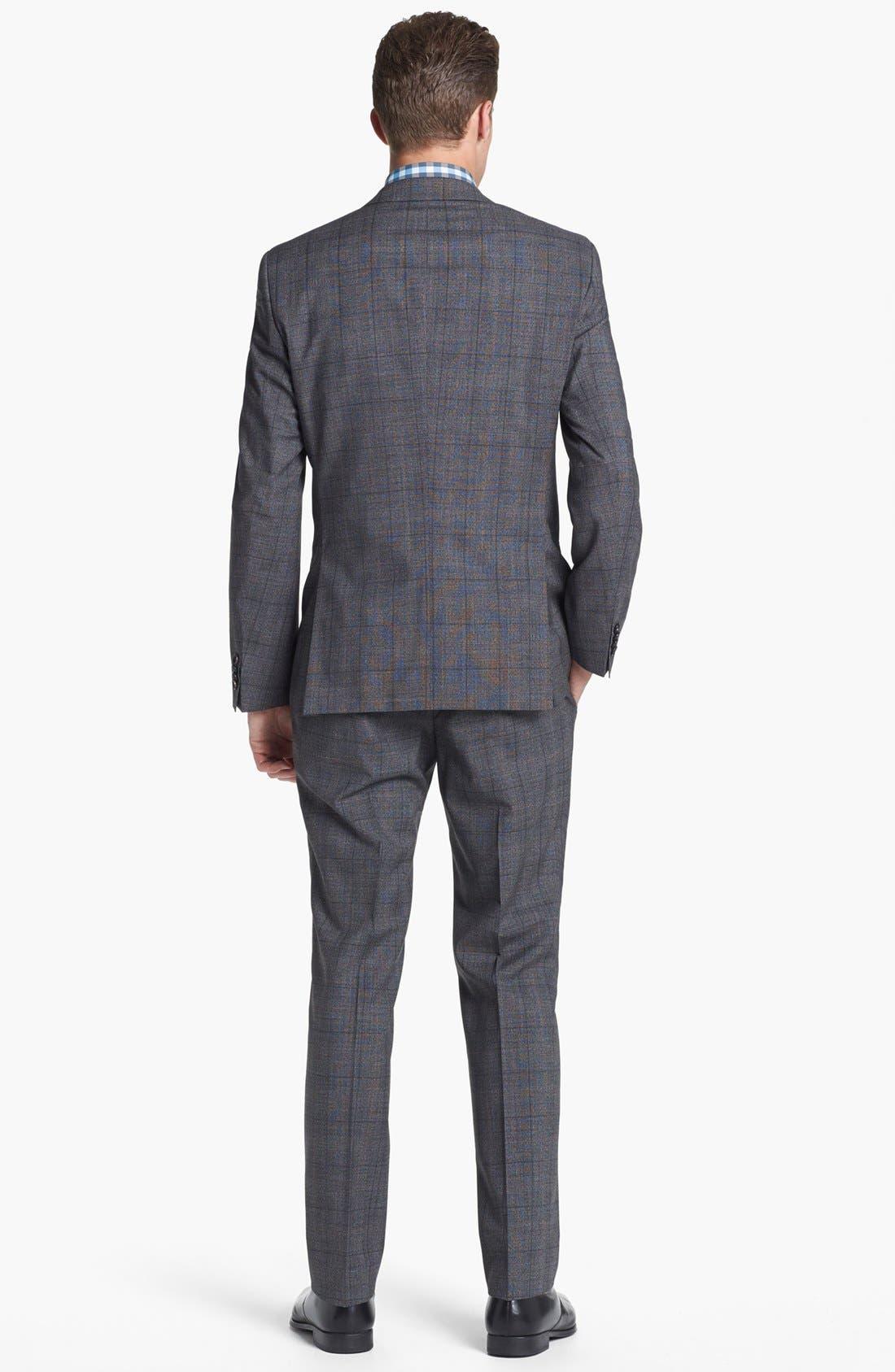 Alternate Image 3  - BOSS HUGO BOSS 'Huge/Genius' Trim Fit Plaid Suit