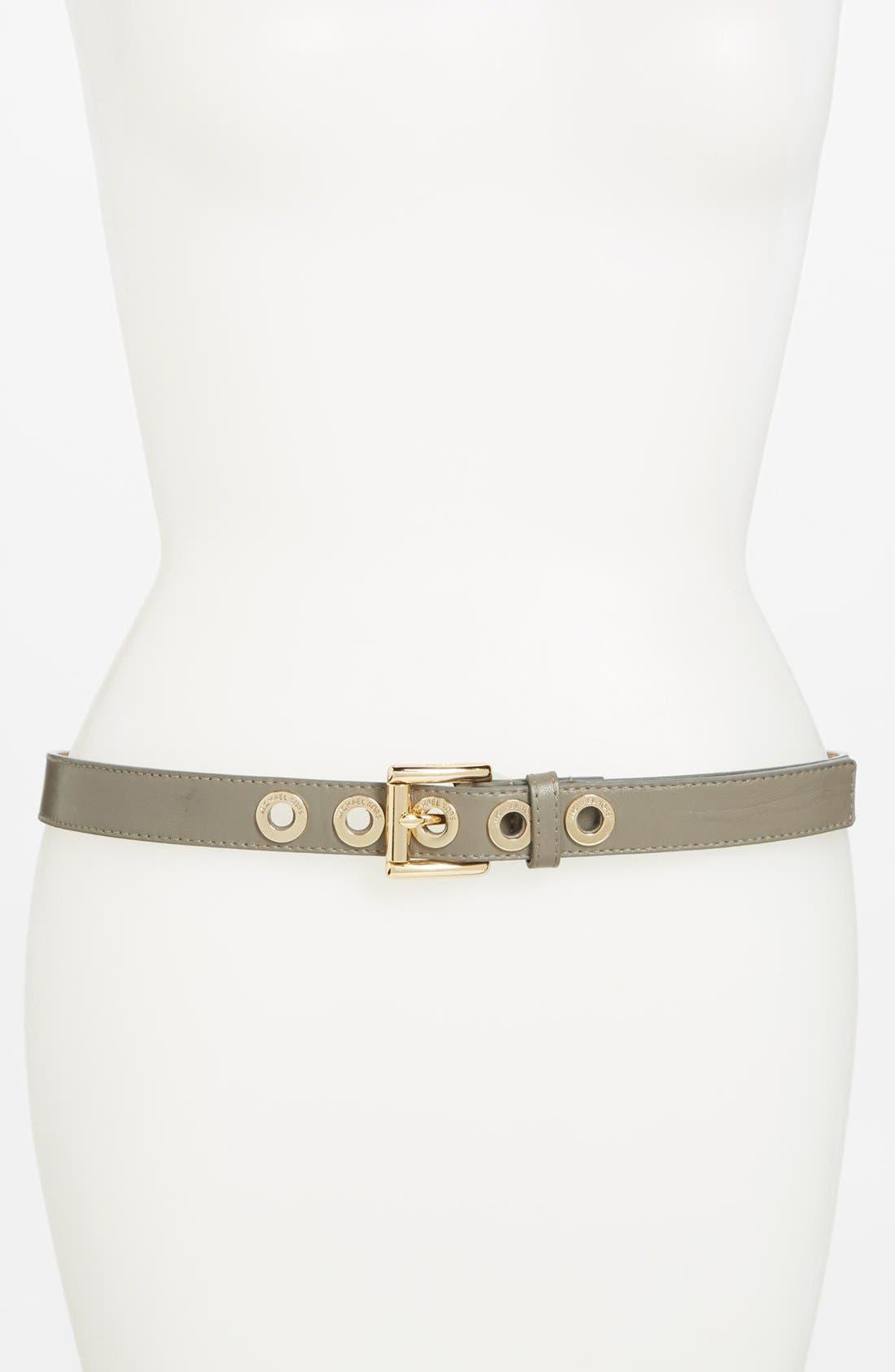 Alternate Image 1 Selected - MICHAEL Michael Kors Leather Belt