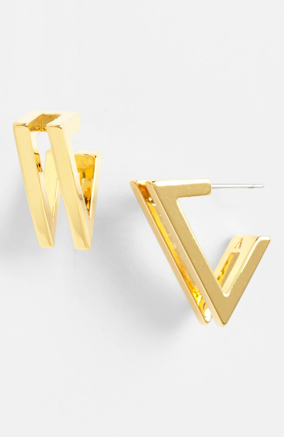 Main Image - Vince Camuto 'Very Vince' Double V Hoop Earrings