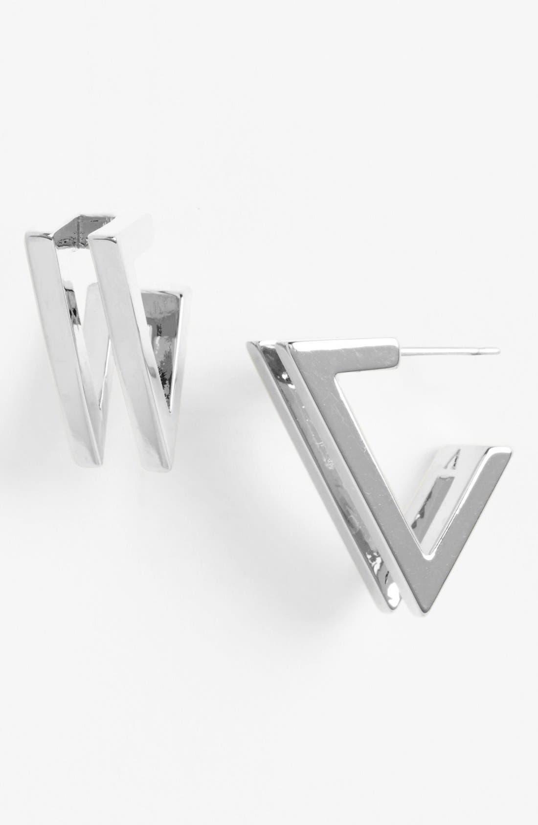 Alternate Image 1 Selected - Vince Camuto 'Very Vince' Double V Hoop Earrings