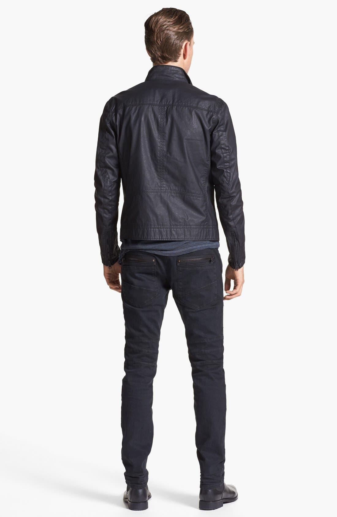 Alternate Image 5  - Rogue Coated Moto Jacket