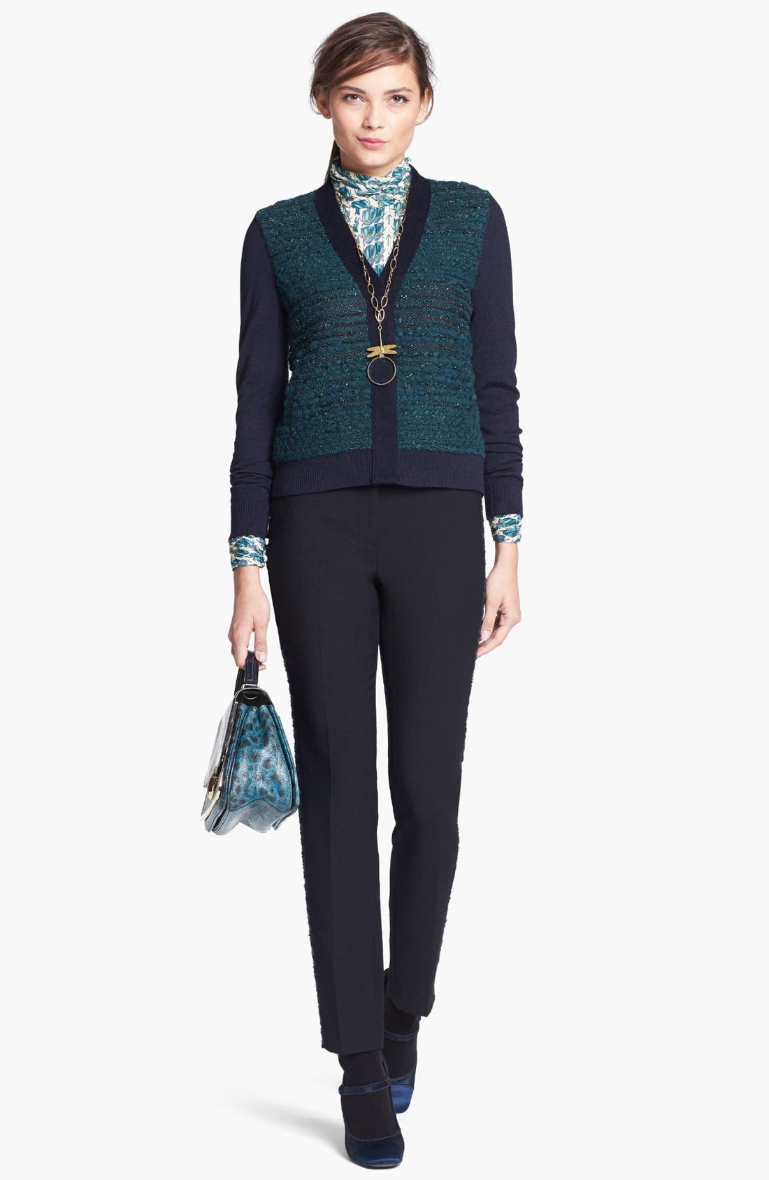 Alternate Image 4  - Tory Burch 'Tobie' Stretch Tuxedo Pants