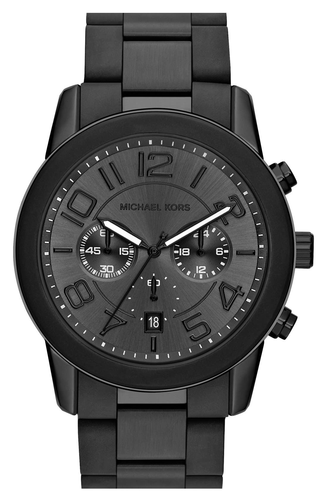Alternate Image 1 Selected - Michael Kors 'Mercer' Chronograph Bracelet Watch, 45mm