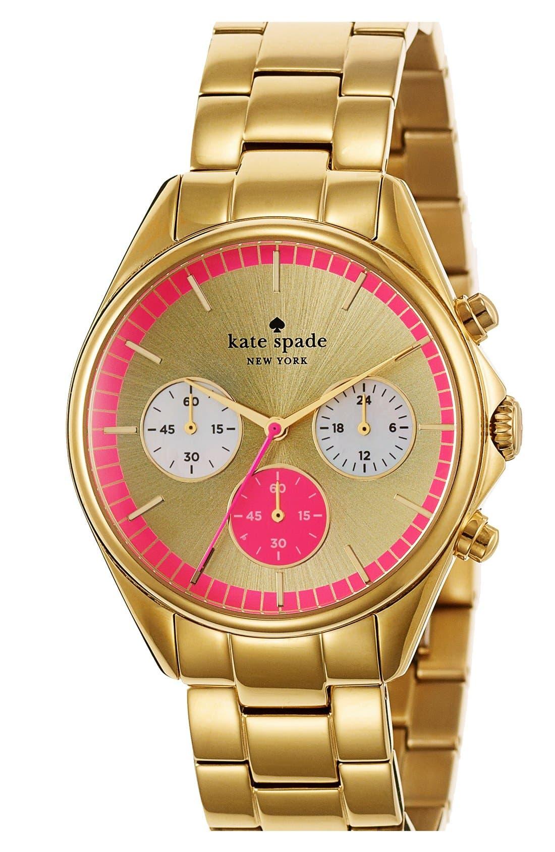 Alternate Image 2  - kate spade new york 'seaport' chronograph bracelet watch, 38mm