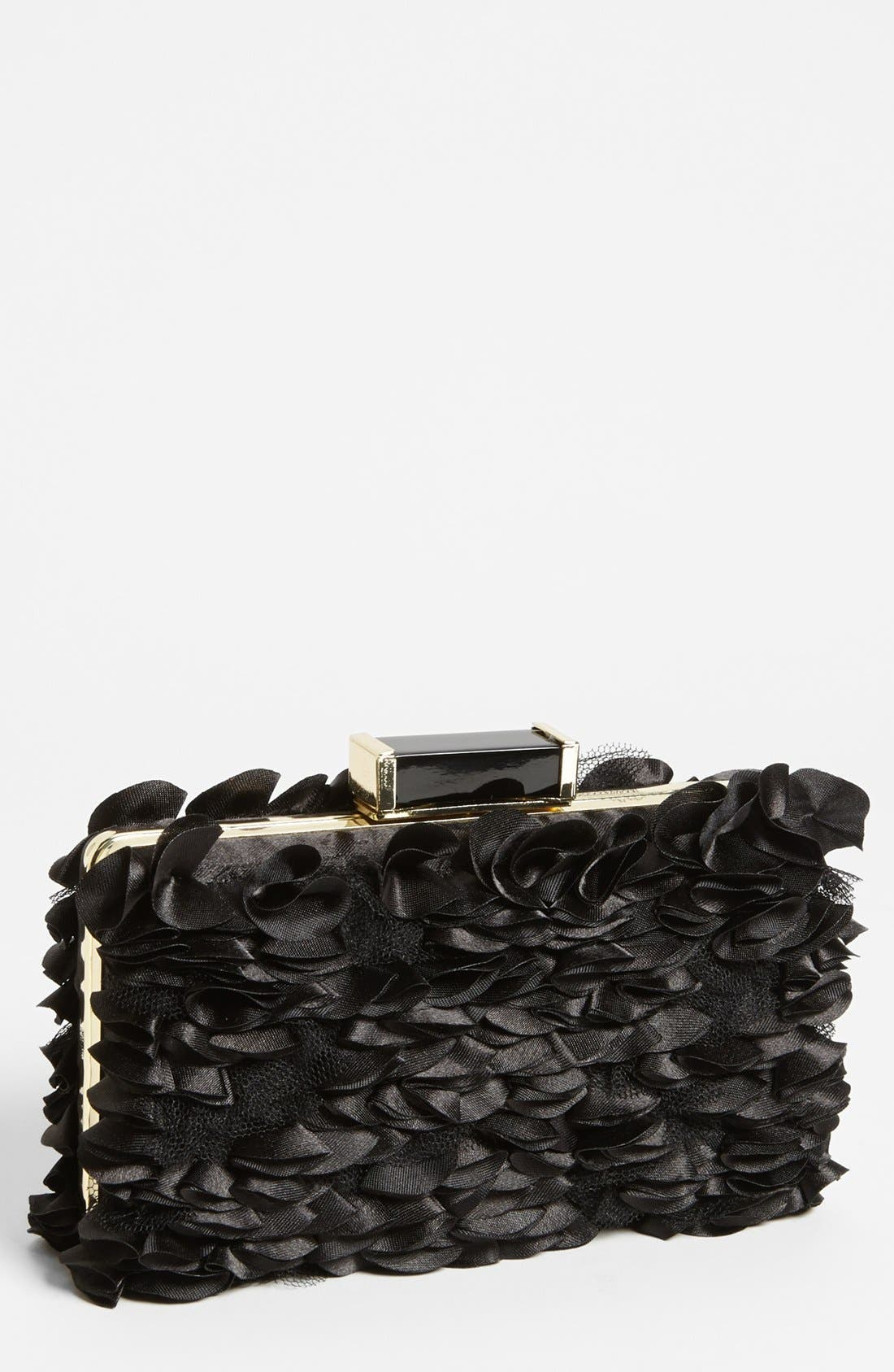 Alternate Image 1 Selected - Betsey Johnson 'Evening Rosette' Clutch