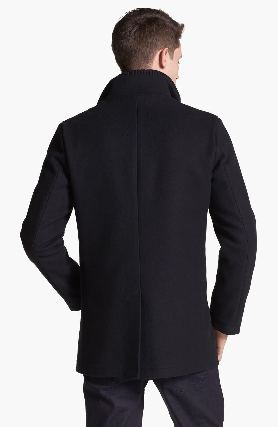 Alternate Image 2  - Armani Collezioni Wool Blend Winter Jacket