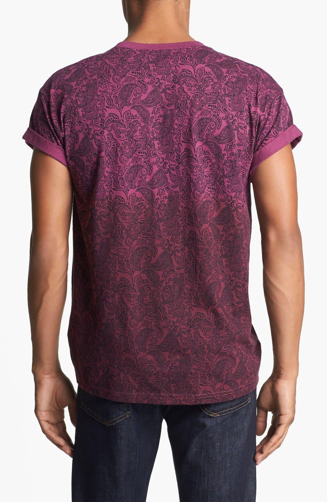 Alternate Image 2  - Topman Dip Dyed Paisley Print T-Shirt