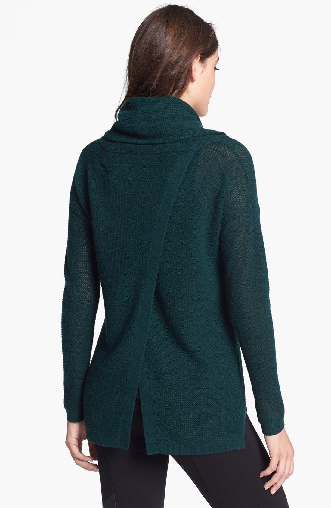 Alternate Image 2  - Elie Tahari 'Nancy' Faux Wrap Back Cashmere Sweater