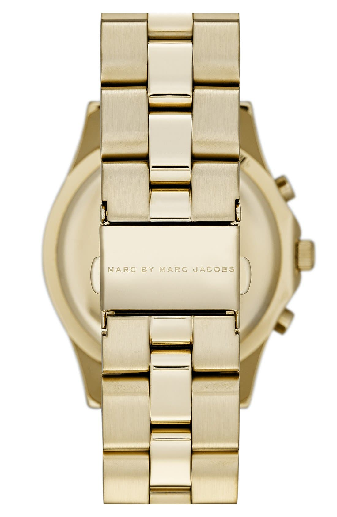 Alternate Image 2  - MARC JACOBS 'Blade' Crystal Index Watch, 40mm