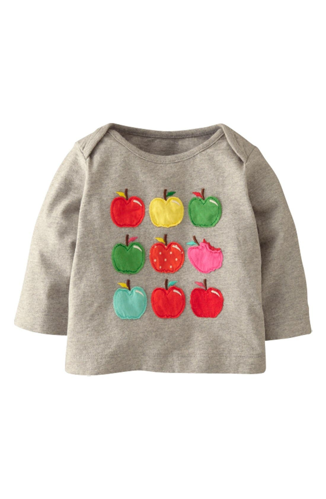 Main Image - Mini Boden Patchwork Appliqué Tee (Baby Girls)