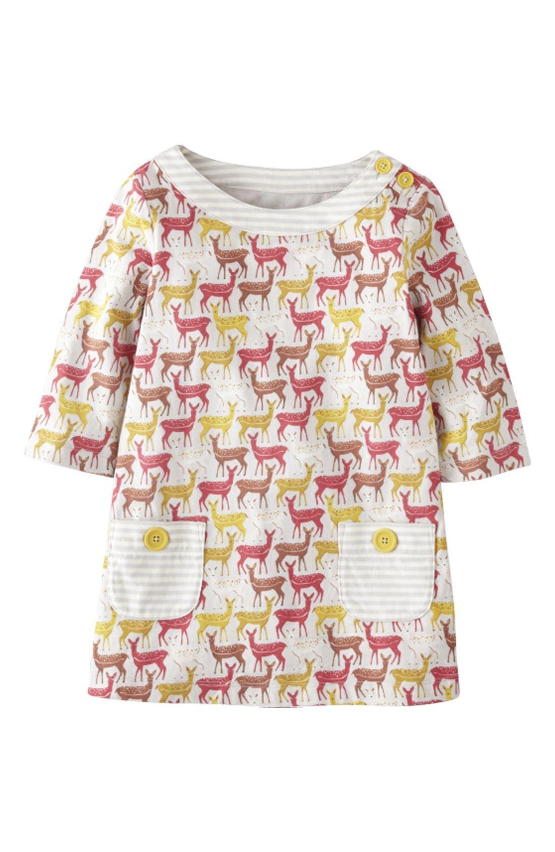 Alternate Image 1 Selected - Mini Boden Print Tunic Top (Toddler Girls)