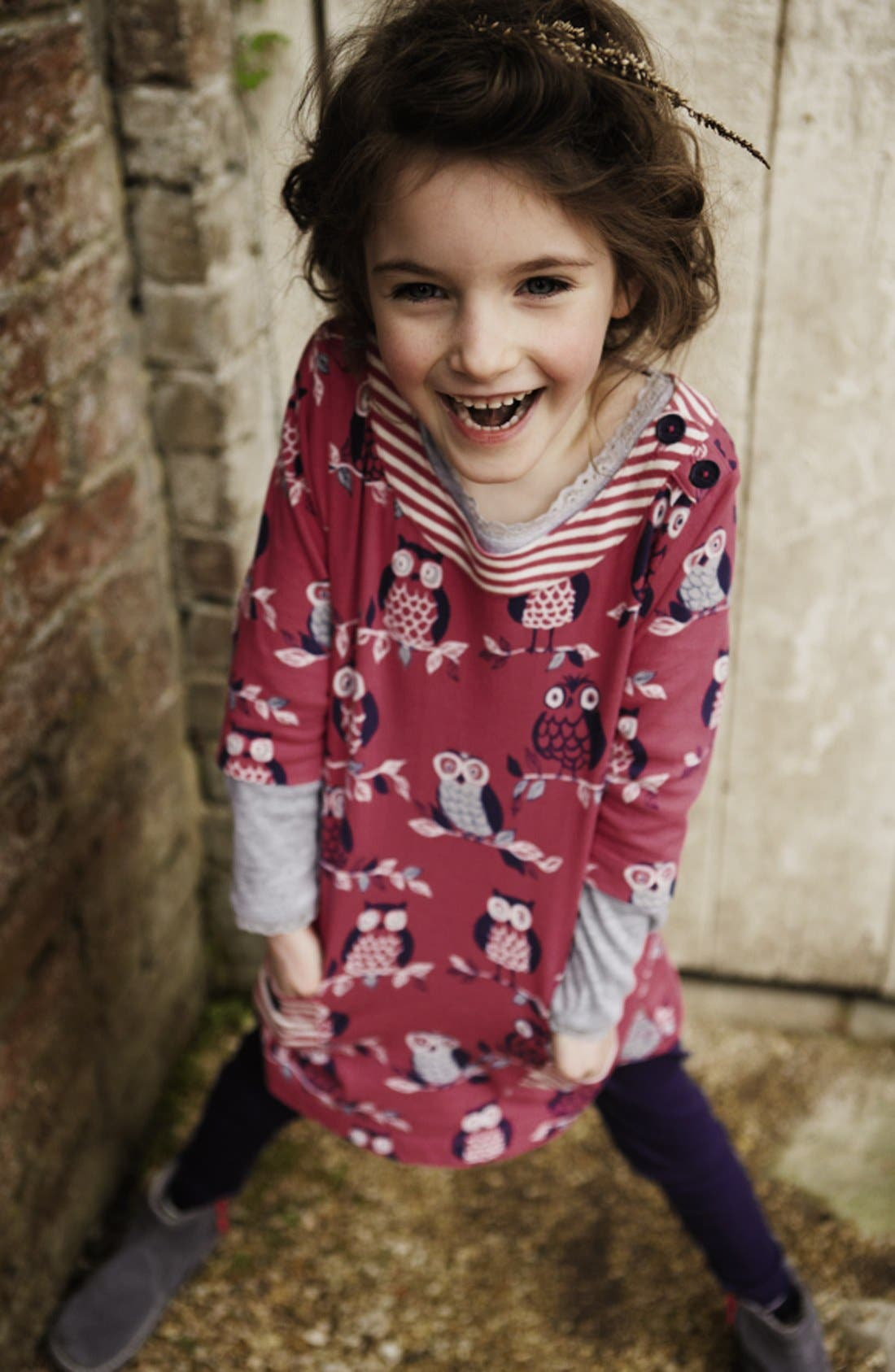 Alternate Image 2  - Mini Boden Print Tunic Top (Toddler Girls)