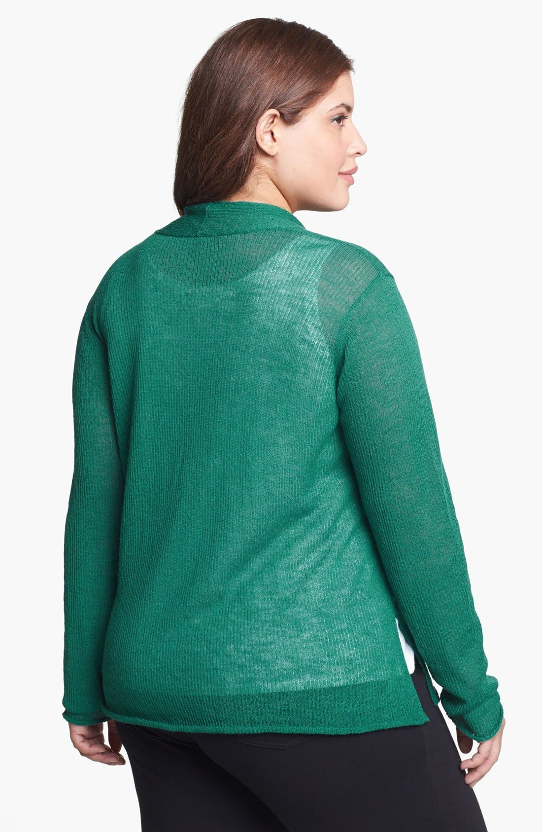 Alternate Image 2  - Eileen Fisher Wool Cardigan (Plus Size)