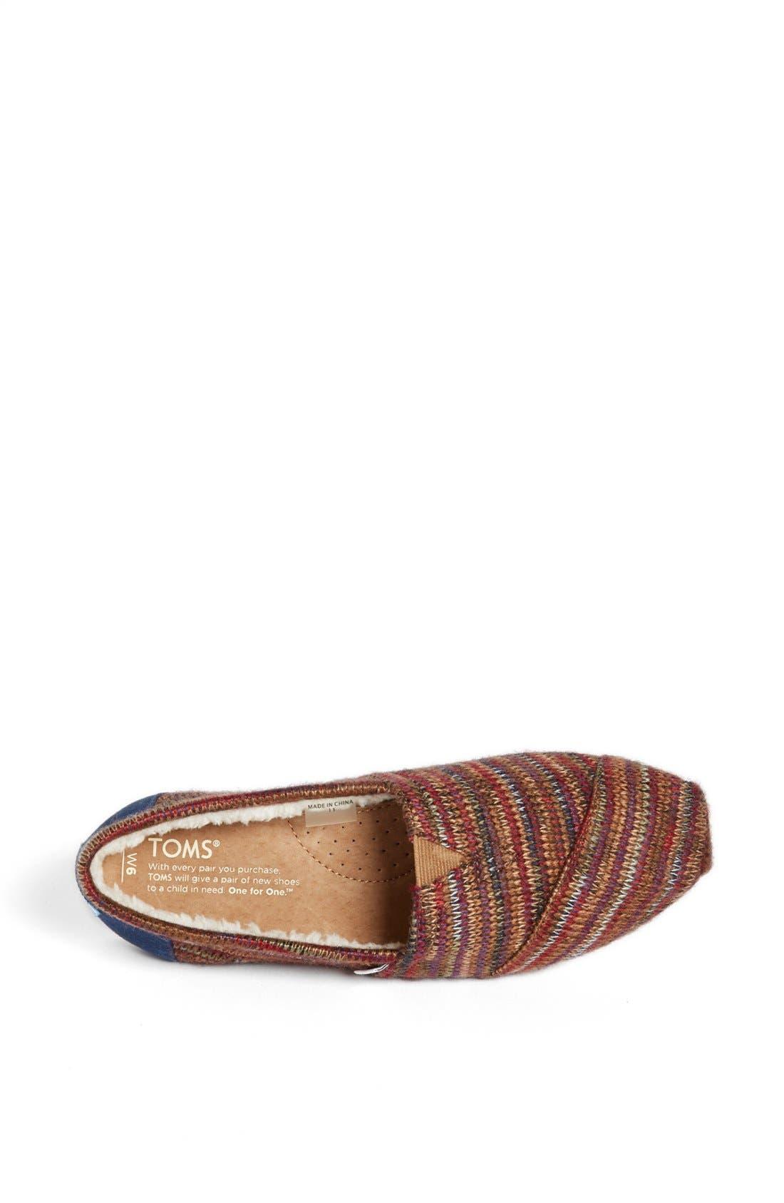 Alternate Image 3  - TOMS 'Classic - Rust Knit' Slip-On (Women)