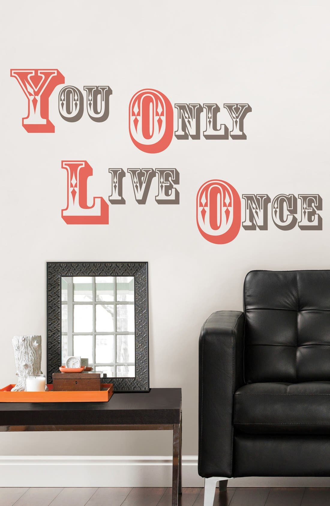 Alternate Image 1 Selected - Wallpops 'You Only Live Once' Wall Art
