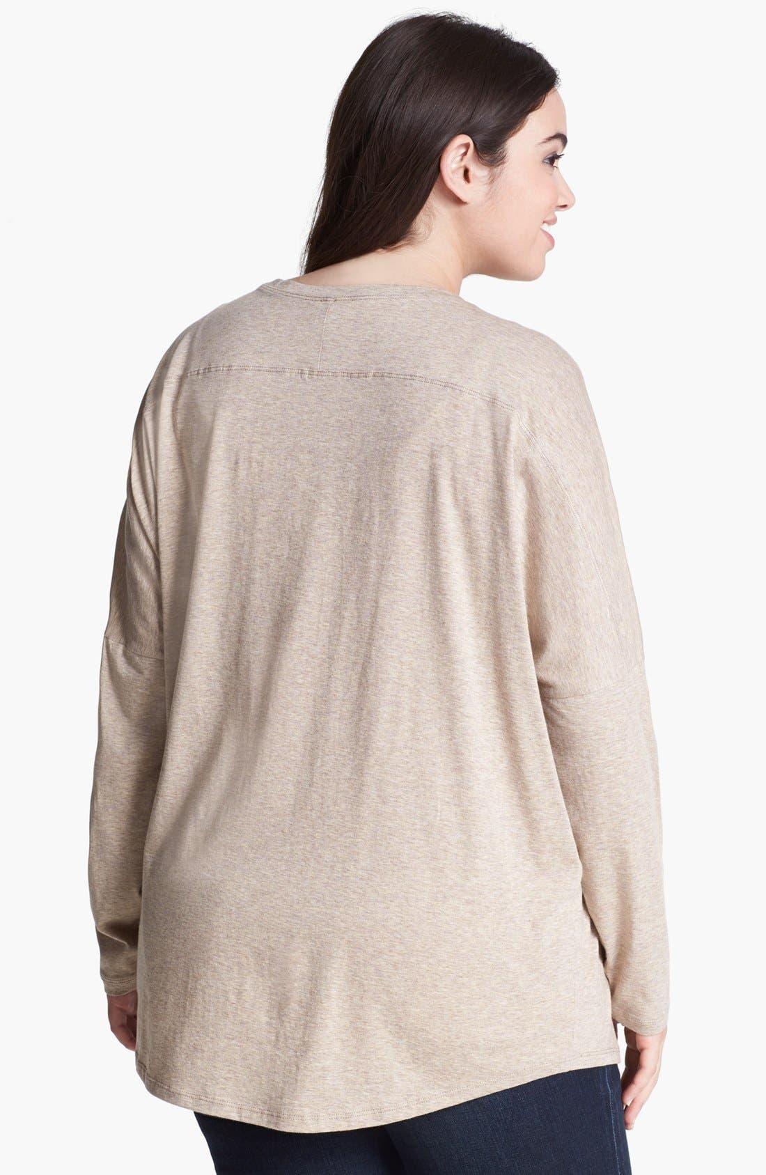 Alternate Image 2  - Kische Studded Open Front Cardigan (Plus Size)