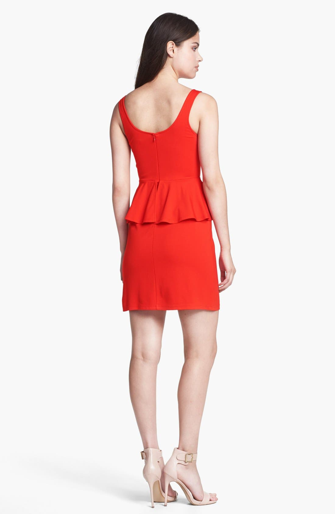 Alternate Image 2  - BB Dakota 'Minny' Ponte Peplum Sheath Dress