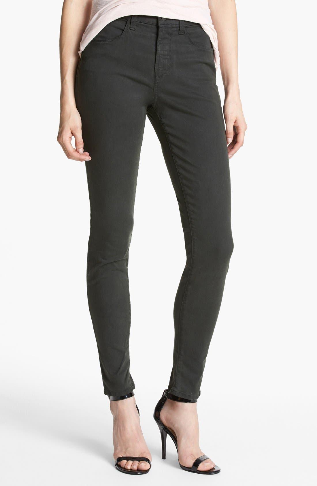 Main Image - J Brand 'Maria 2311' High Rise Skinny Jeans (Presidio)