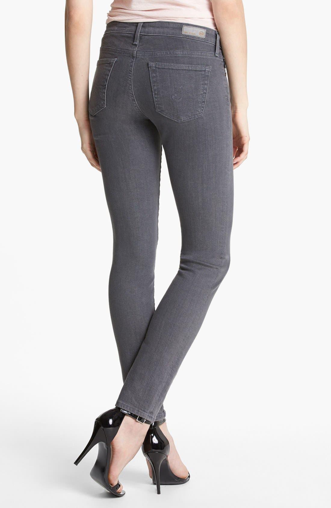 Alternate Image 2  - AG Super Skinny Jeans (Stoneway)