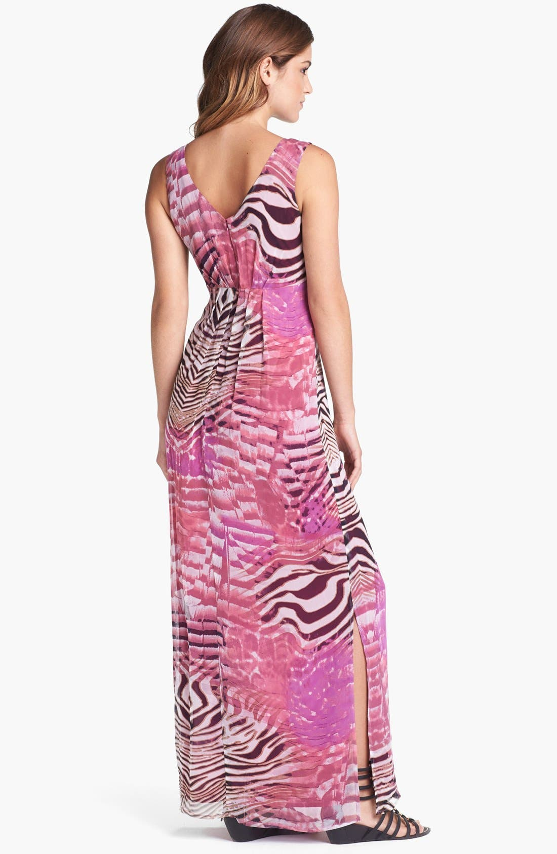 Alternate Image 2  - Presley Skye Print Silk Chiffon Maxi Dress