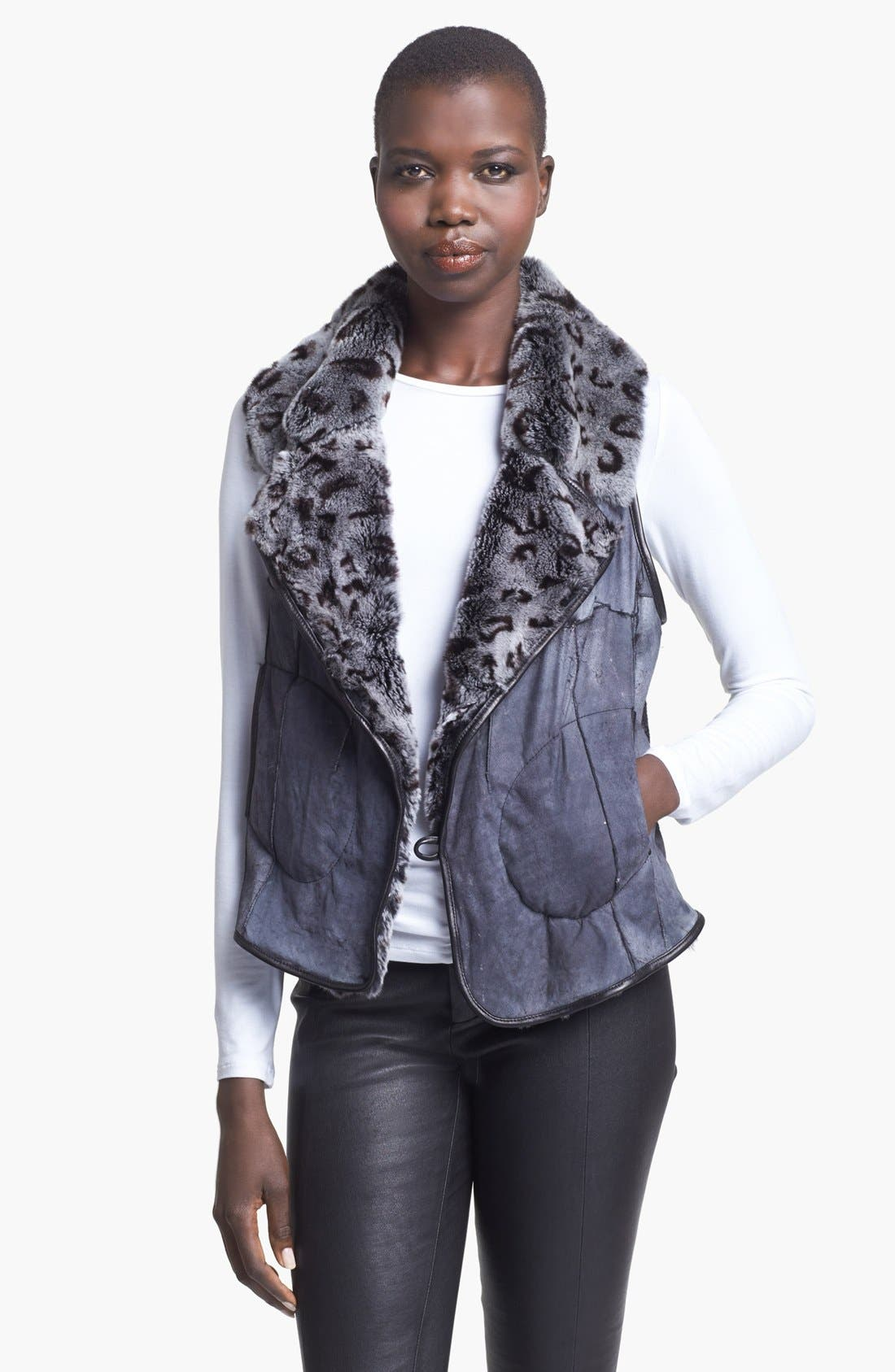 Main Image - Tracy Reese Genuine Rabbit Fur Vest