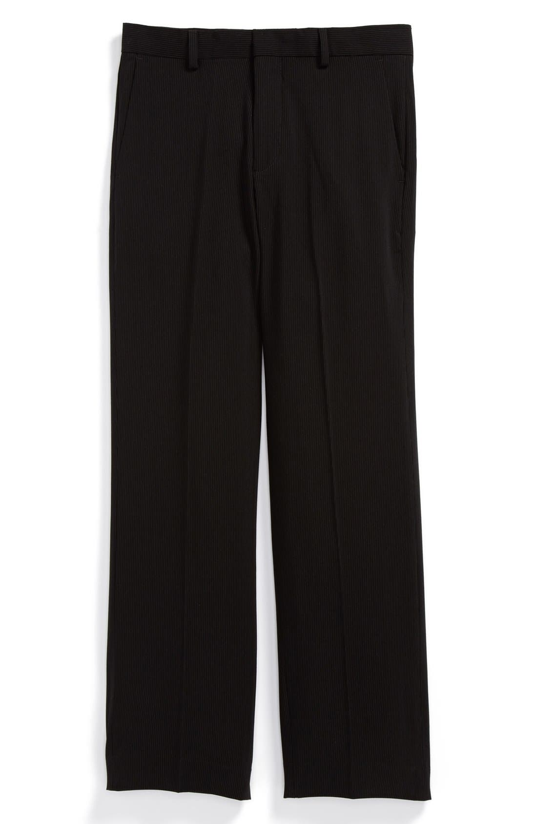 Alternate Image 1 Selected - C2 by Calibrate Pinstripe Dress Pants (Big Boys)