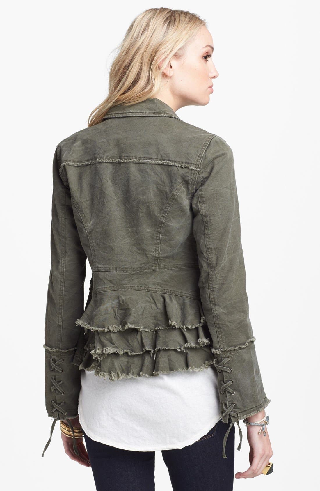 Alternate Image 2  - Free People Ruffle Hem Twill Jacket