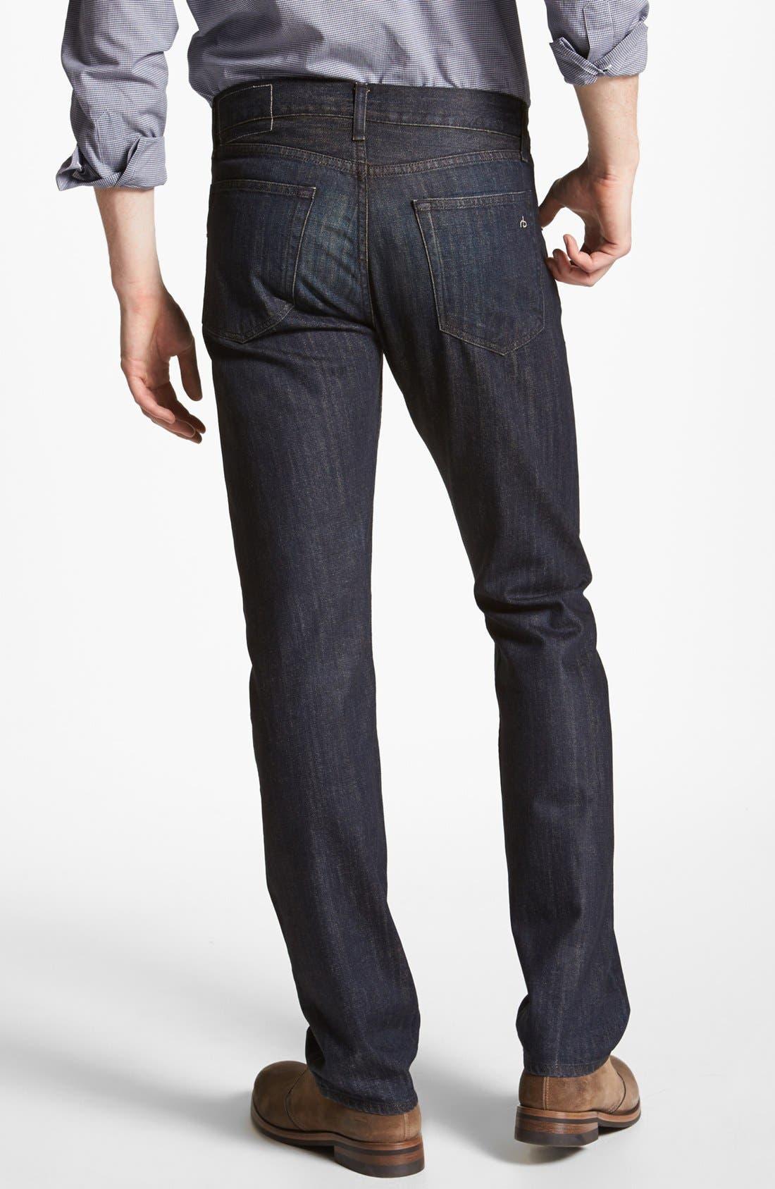 Alternate Image 2  - rag & bone 'RB15X' Slim Straight Leg Jeans (Indigo Flint)
