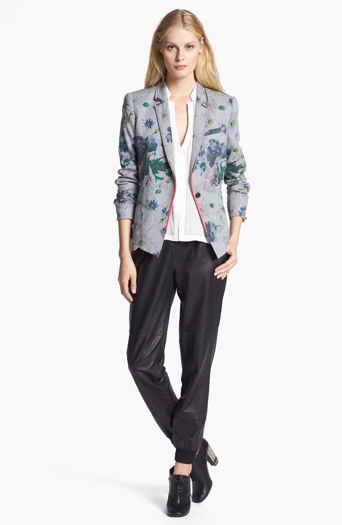 Alternate Image 2  - Elizabeth and James 'Bourne' Floral Print Flannel Jacket