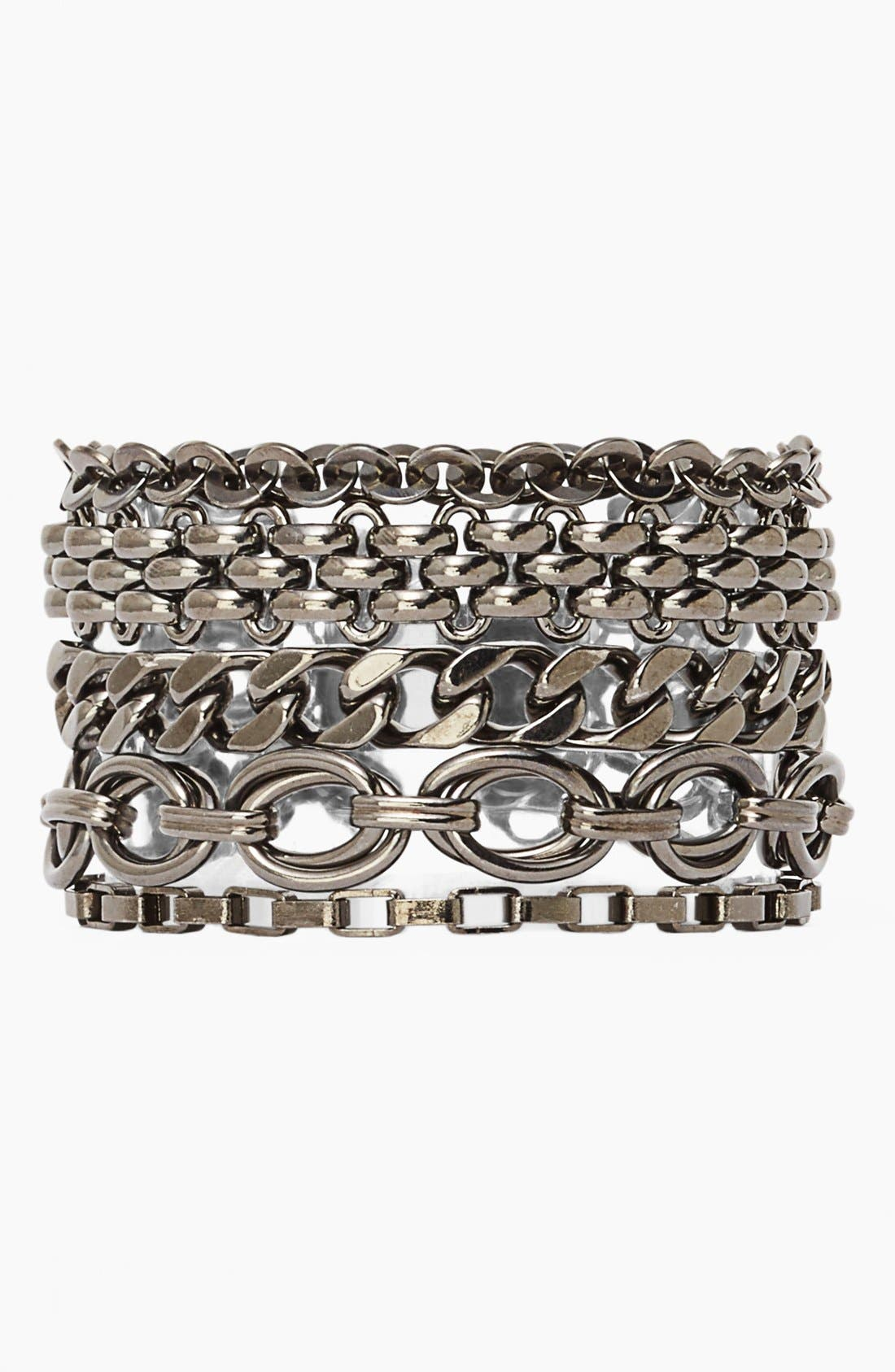 Alternate Image 1 Selected - Nordstrom 'Lady Links' Mixed Chain Bracelet