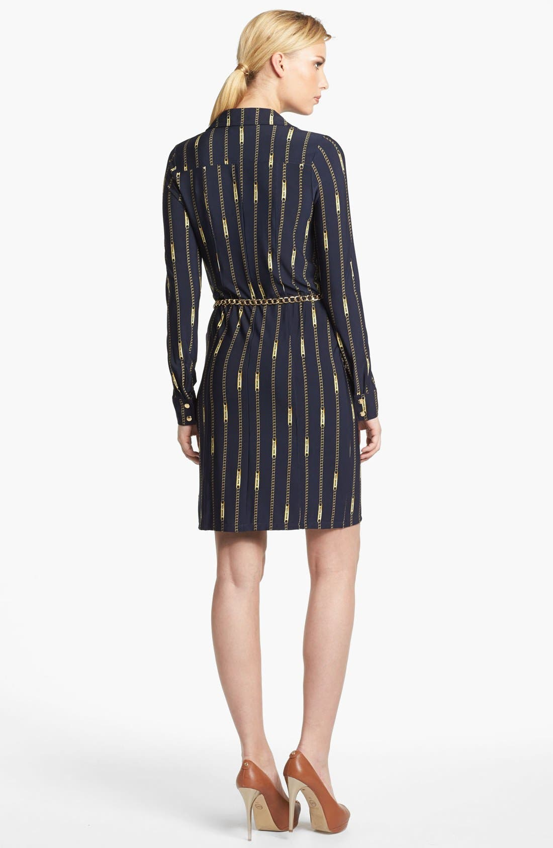 Alternate Image 2  - MICHAEL Michael Kors Belted Print Shirtdress (Regular & Petite)