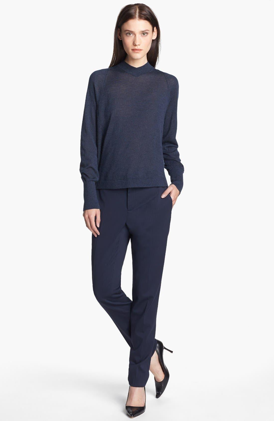 Alternate Image 5  - Theyskens' Theory 'Paction Fruma' Slim Stretch Wool Pants