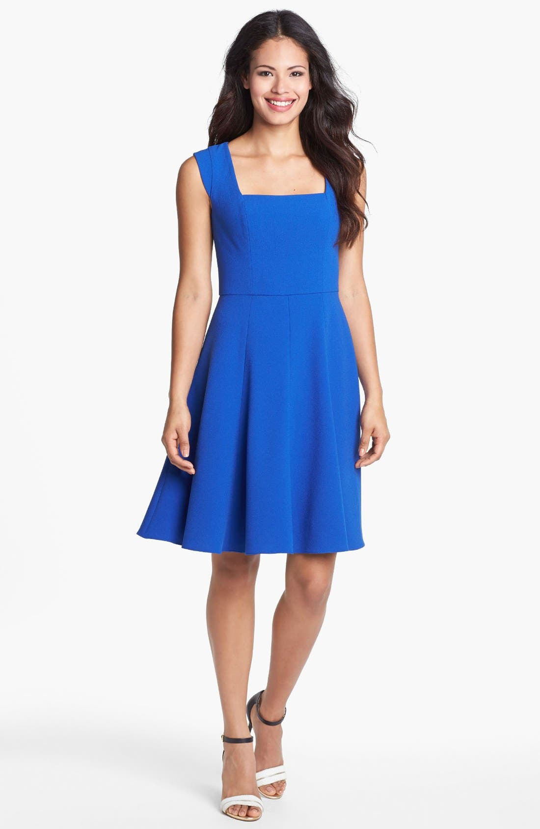 Main Image - Ivy & Blu for Maggy Boutique Fit & Flare Dress (Petite)
