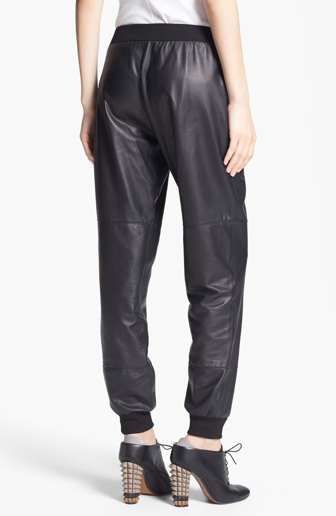 Alternate Image 2  - Elizabeth and James 'Kacey' Leather Sweatpants