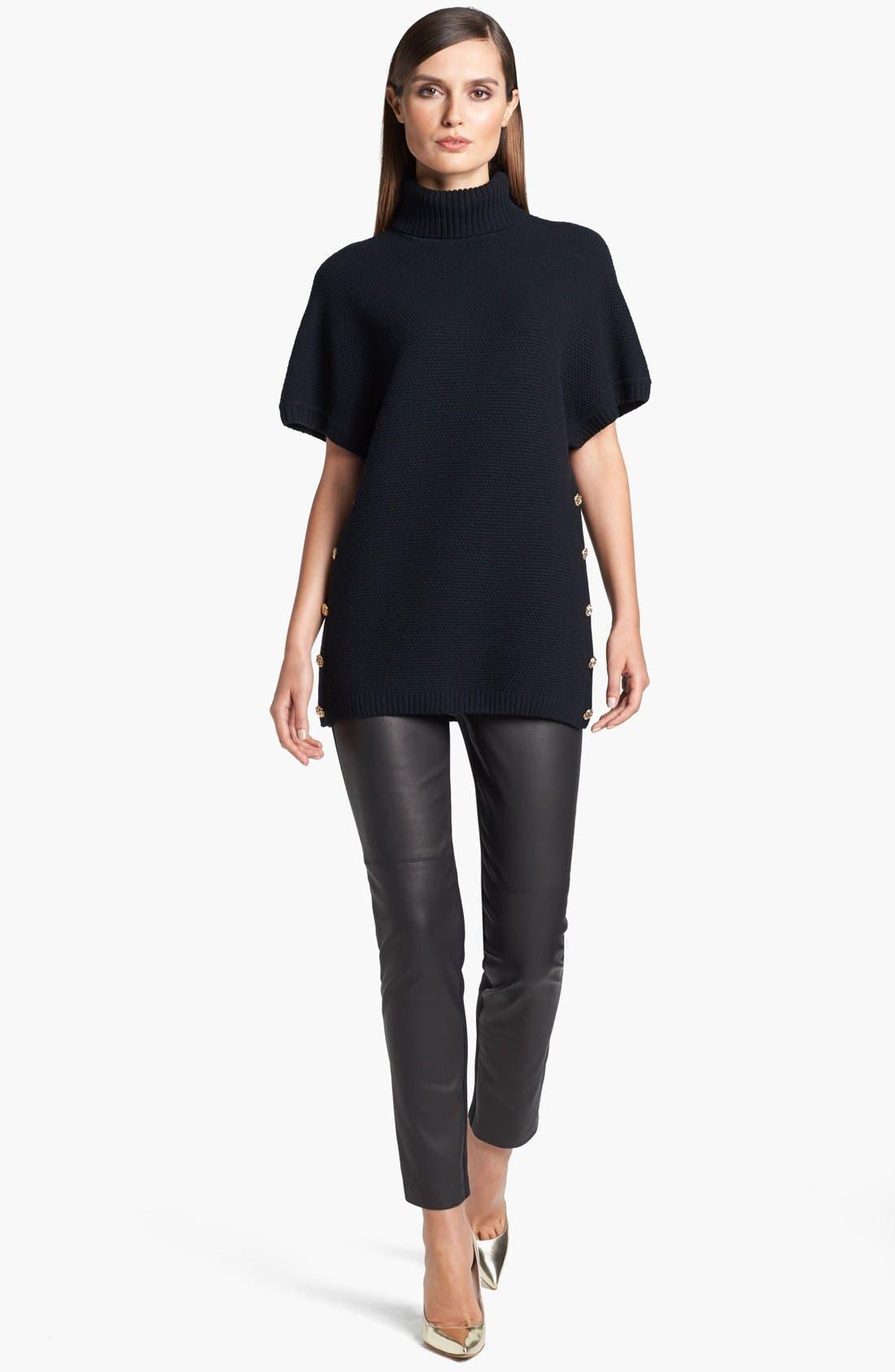 Alternate Image 4  - St. John Collection 'Alexa' Stretch Leather & Milano Knit Pants