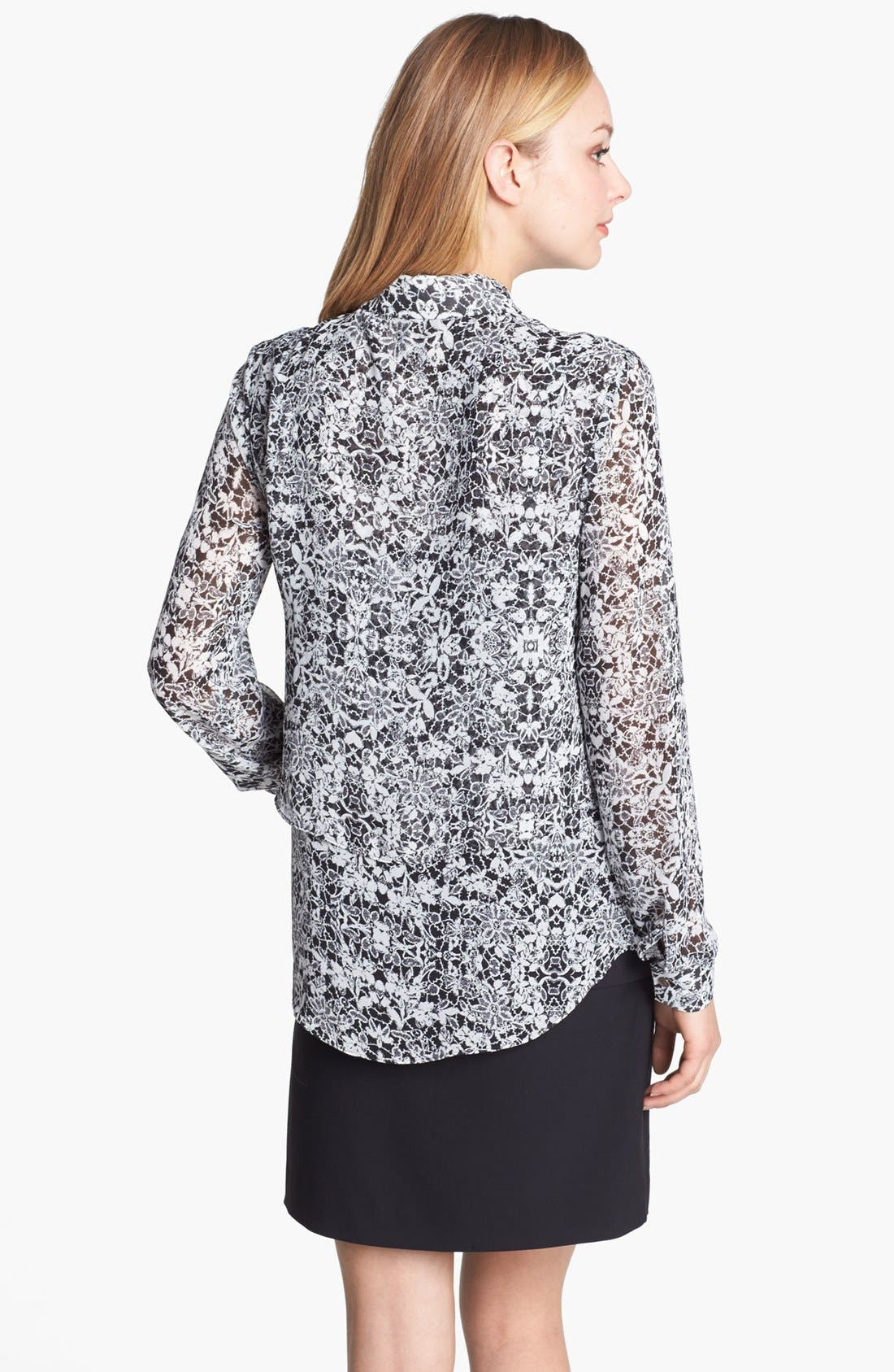 Alternate Image 2  - Vince Camuto Lace Print Blouse