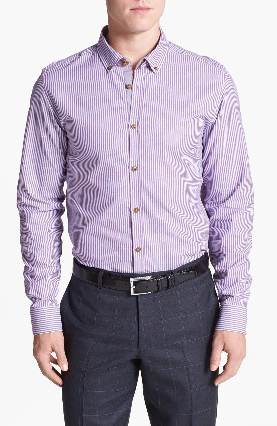 Alternate Image 1 Selected - Ted Baker London 'Shauno' Trim Fit Sport Shirt