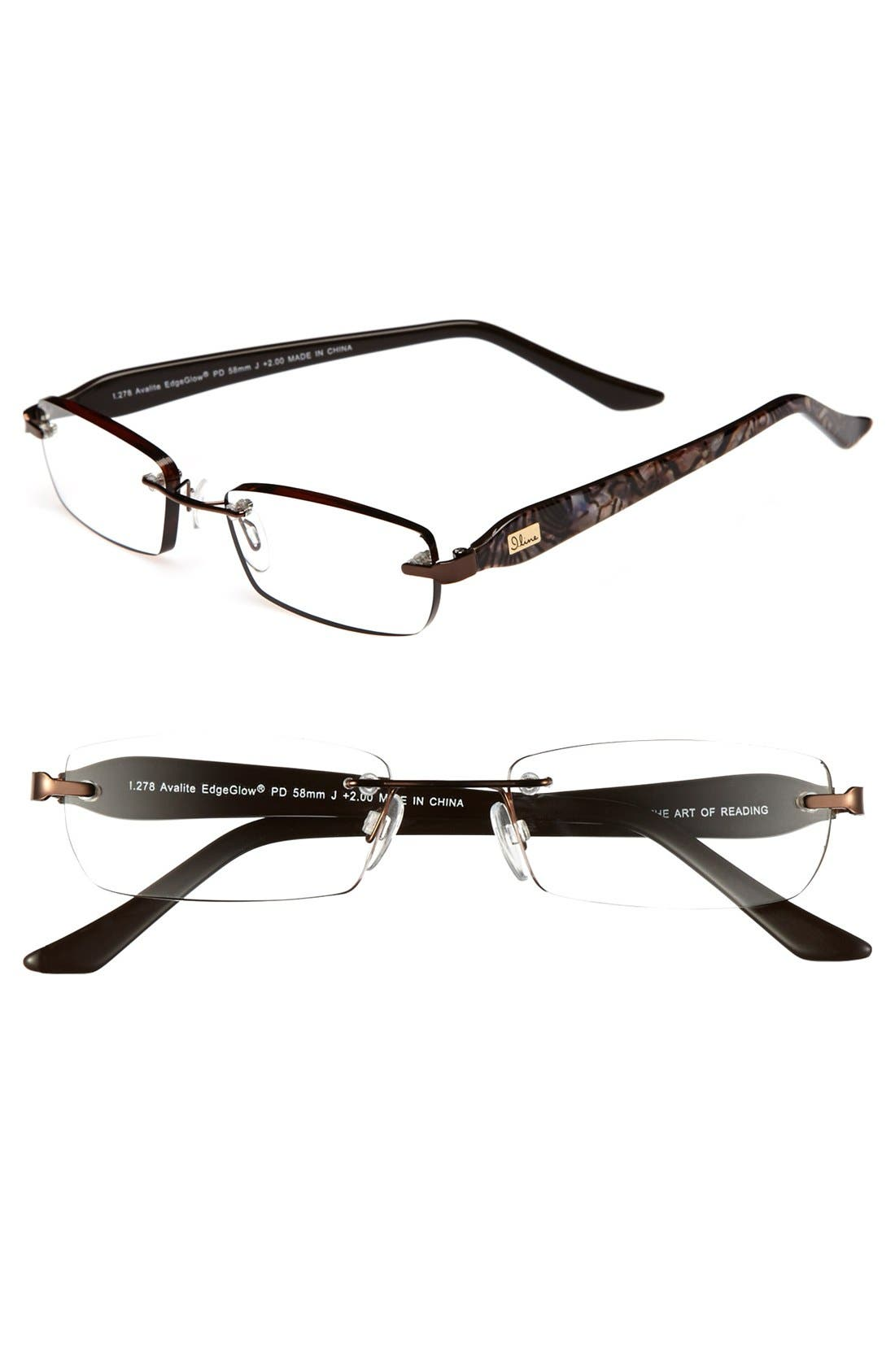 Main Image - I Line Eyewear 'Avalite' EdgeGlow® 52mm Reading Glasses (2 for $88)