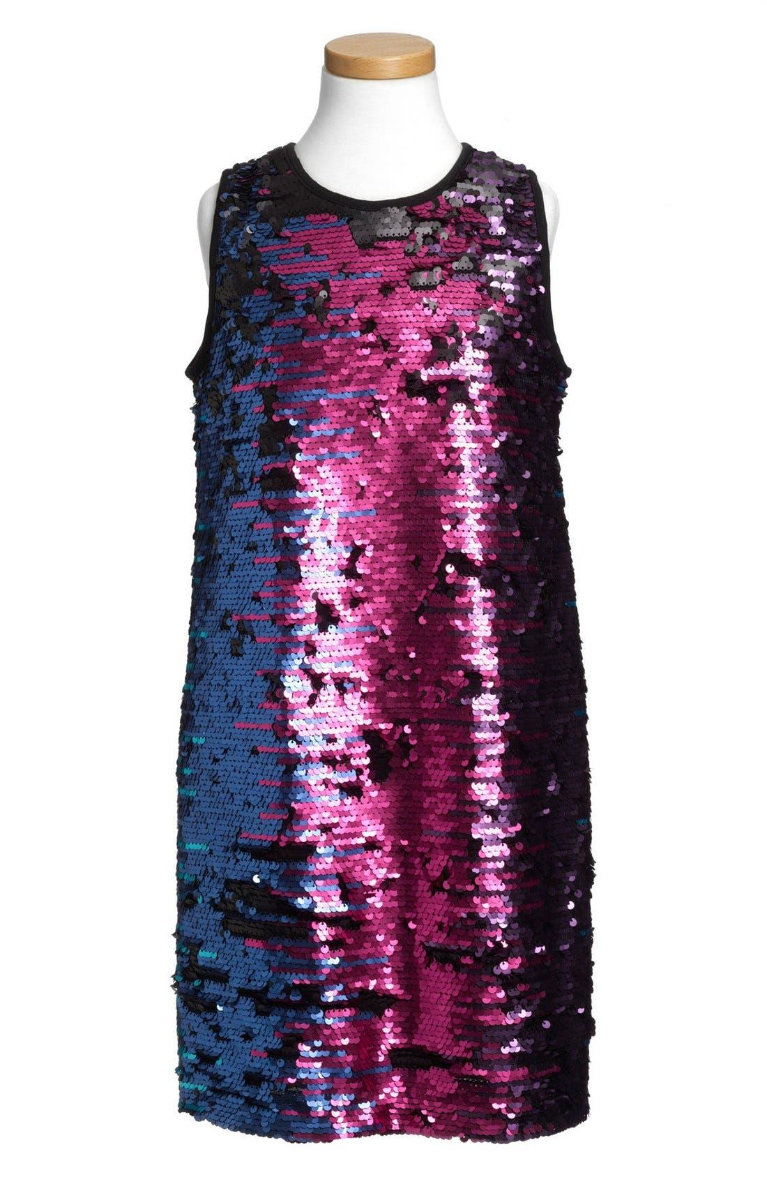 Alternate Image 1 Selected - Pippa & Julie Flip Sequin Dress (Big Girls)