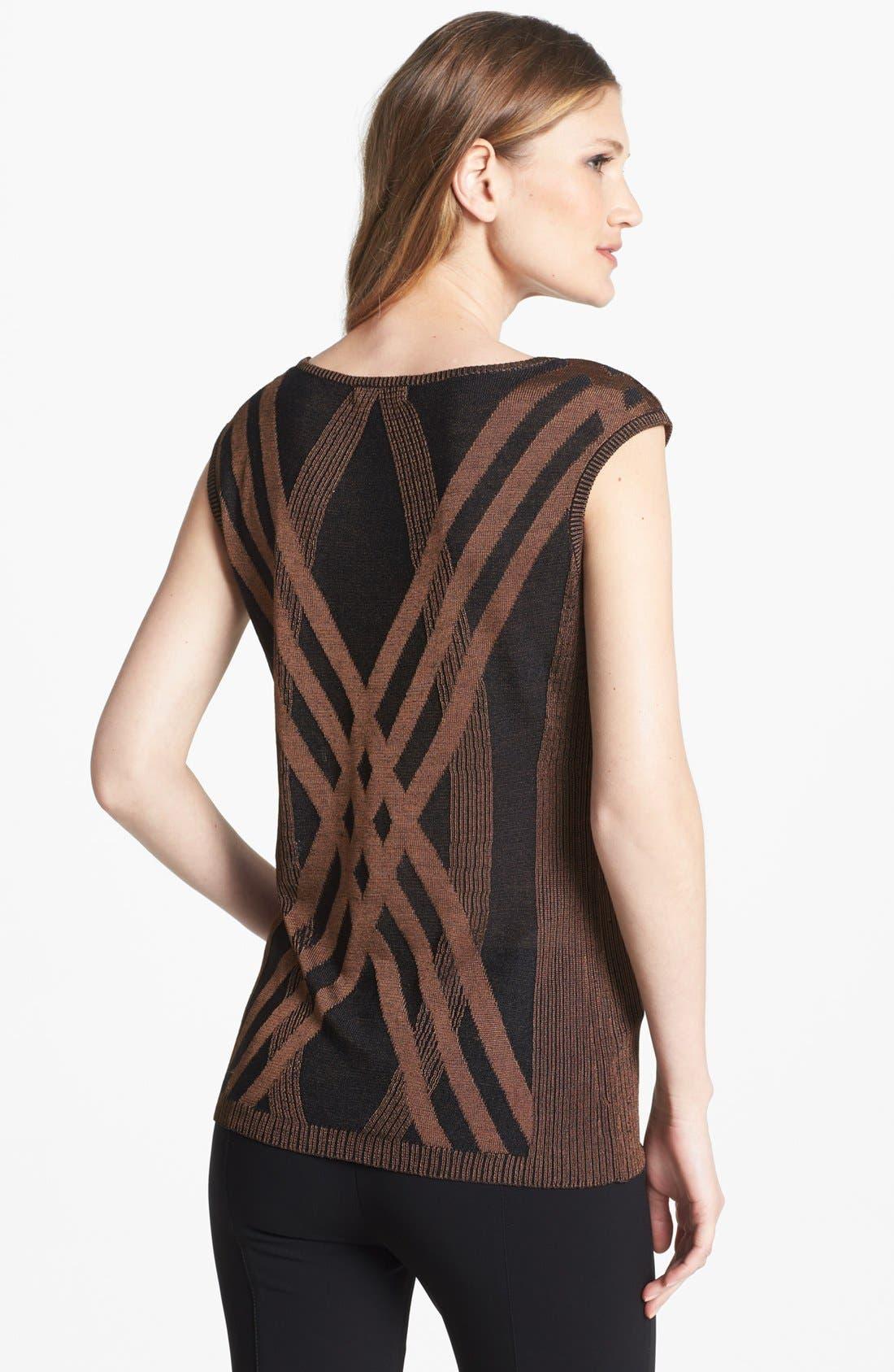 Alternate Image 2  - NIC+ZOE 'Criss Cross' Silk Blend Knit Top