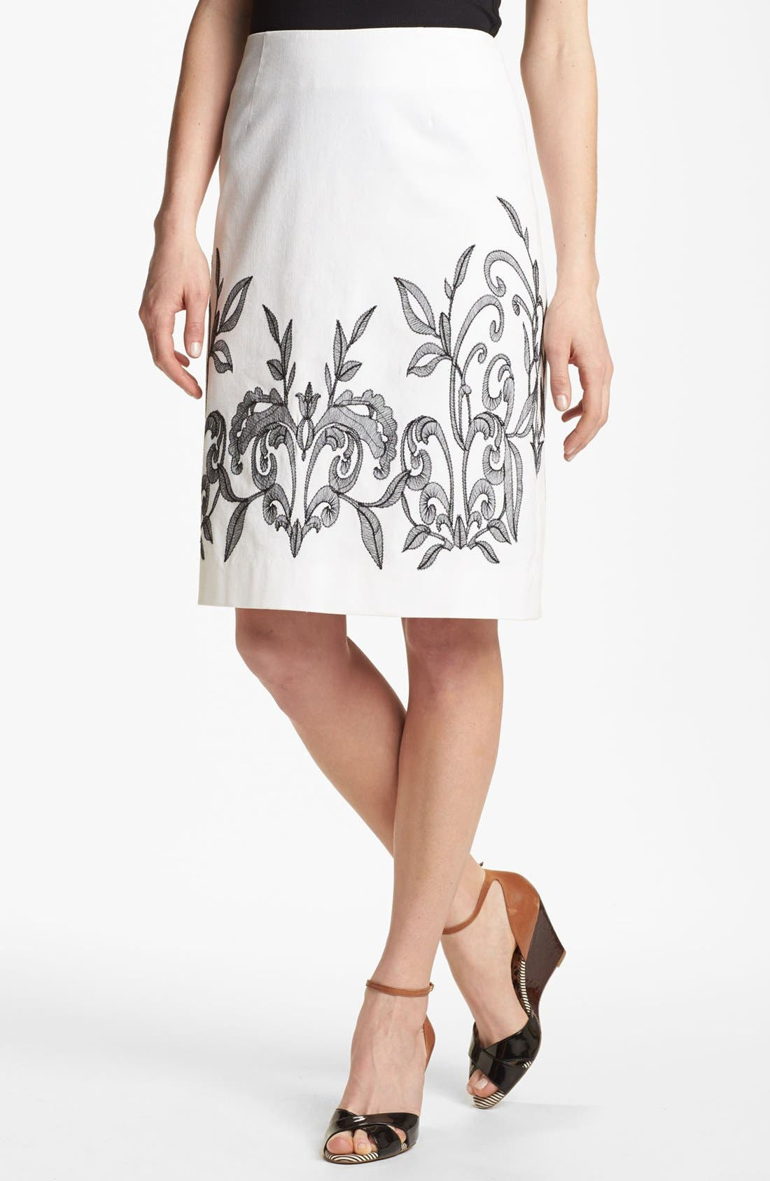Alternate Image 1 Selected - NIC+ZOE 'Exotic Flowers' Skirt (Petite)
