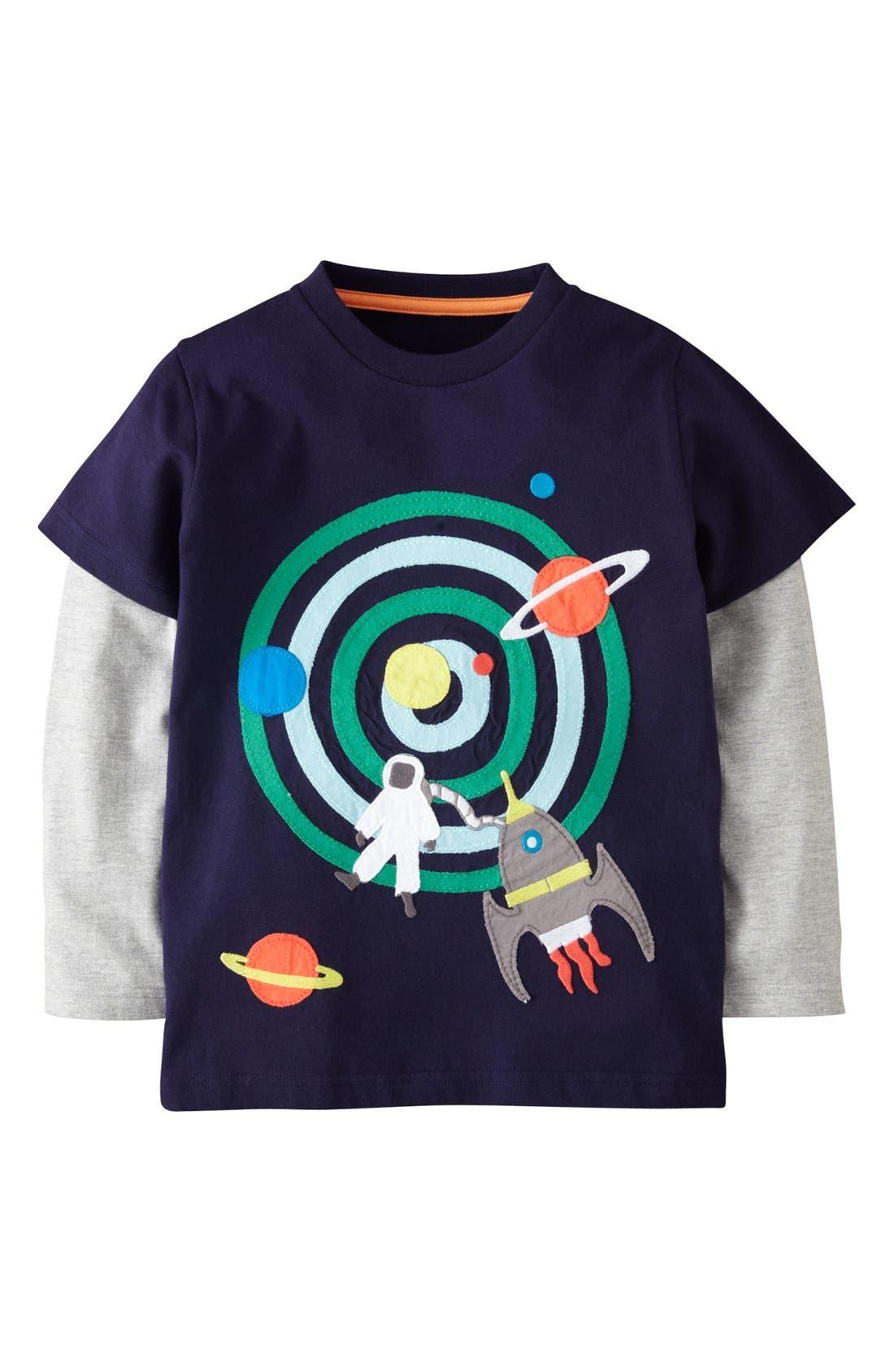 Main Image - Mini Boden Layered Long Sleeve T-Shirt (Toddler Boys, Little Boys & Big Boys)