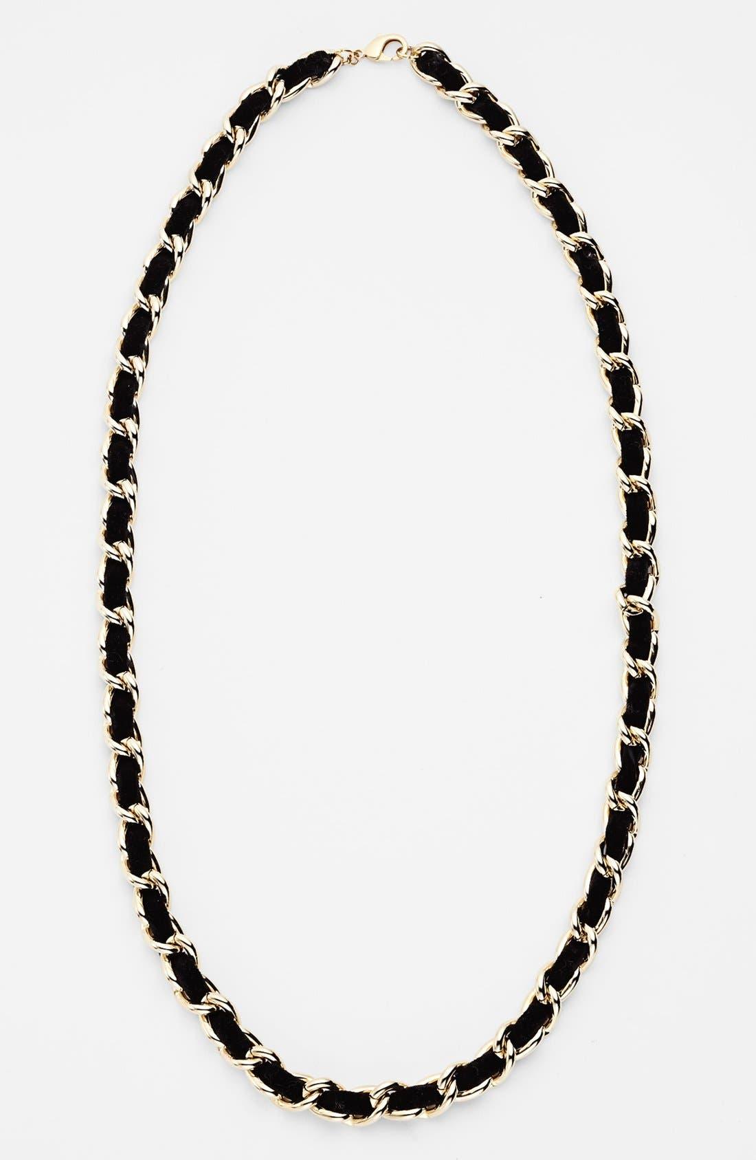 Alternate Image 2  - Nordstrom Velvet Woven Chain Necklace
