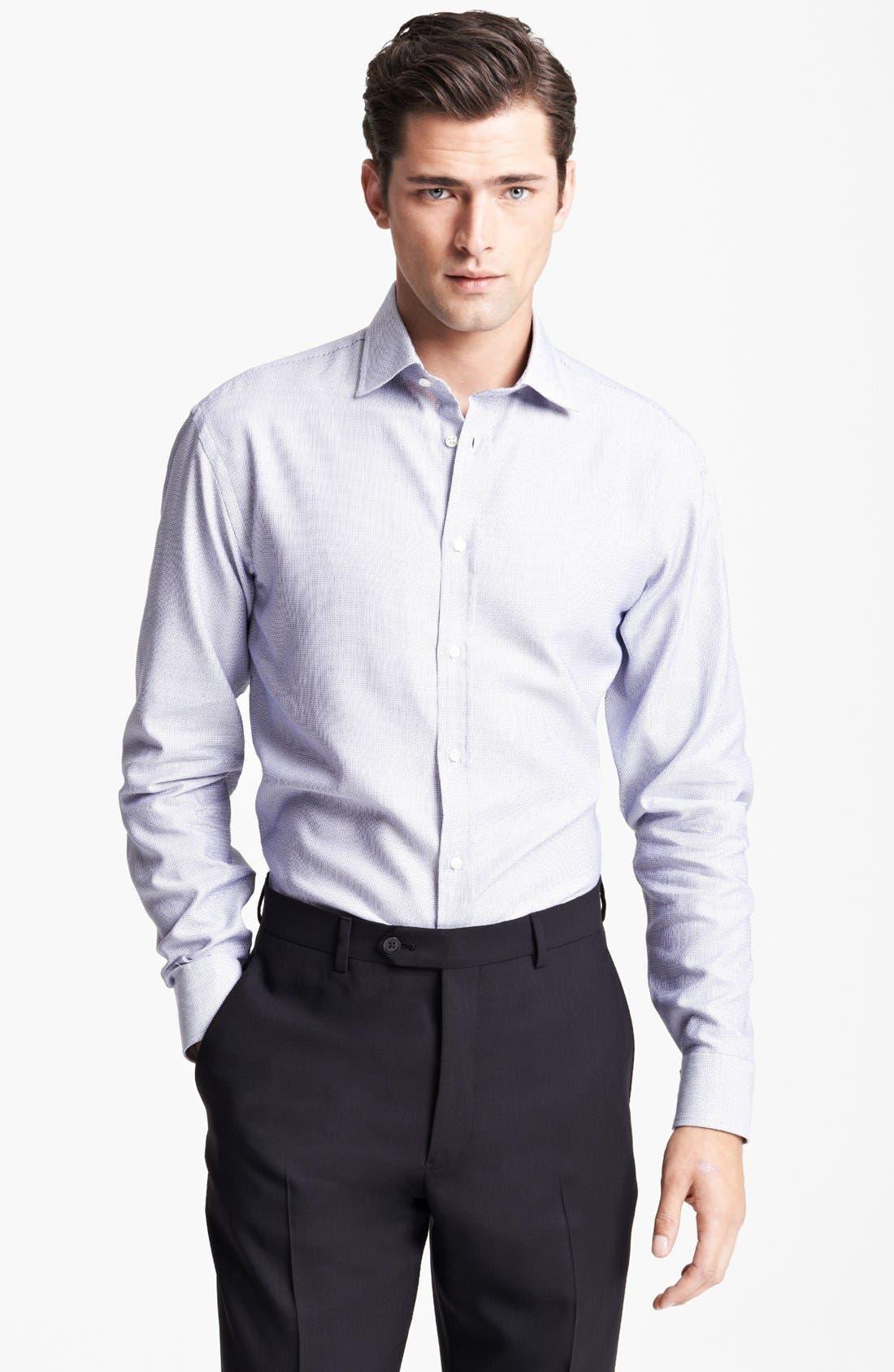 Alternate Image 1 Selected - Armani Collezioni Textured Dress Shirt