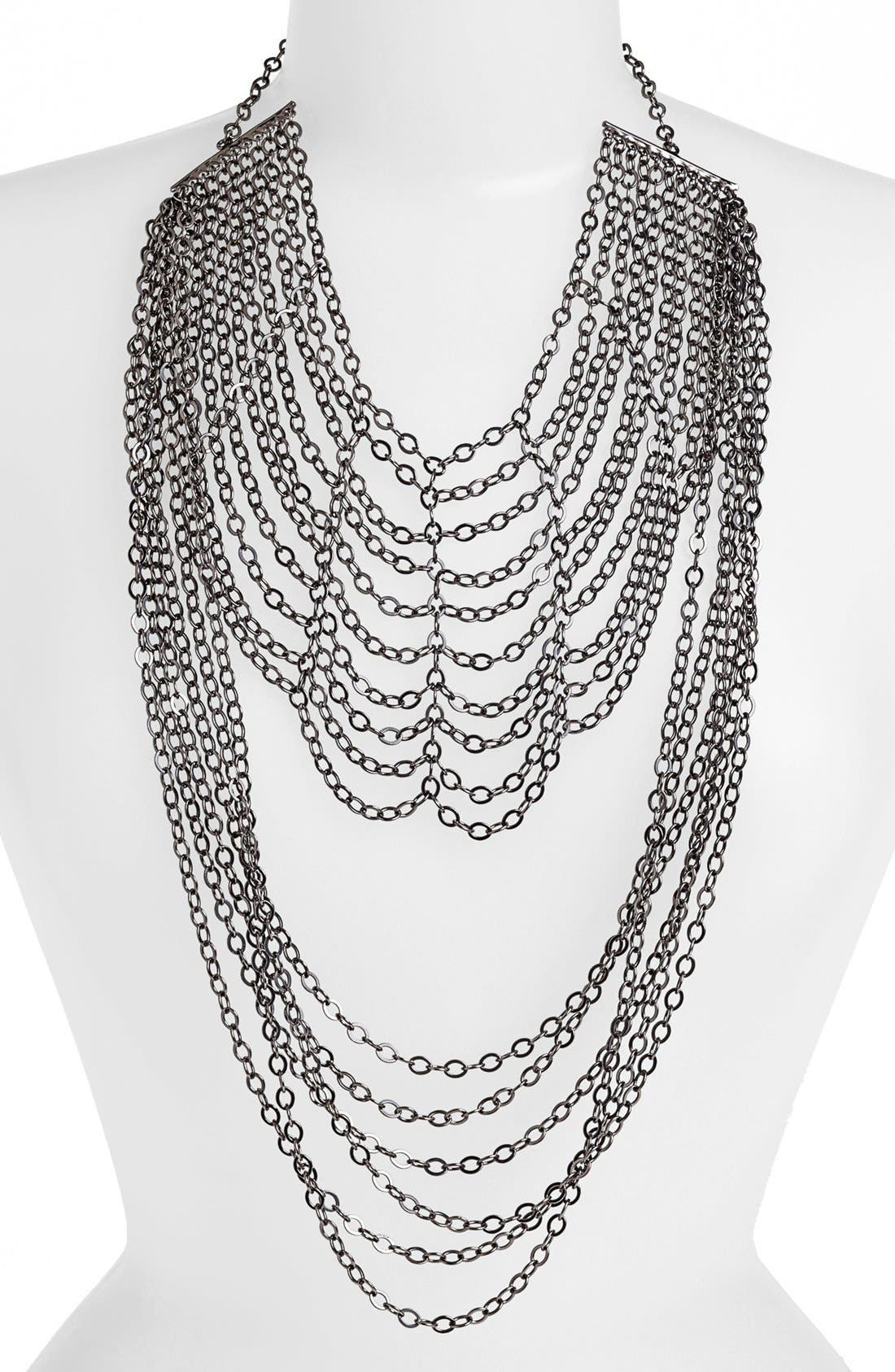 Alternate Image 2  - Natasha Couture Two Tier Chain Necklace