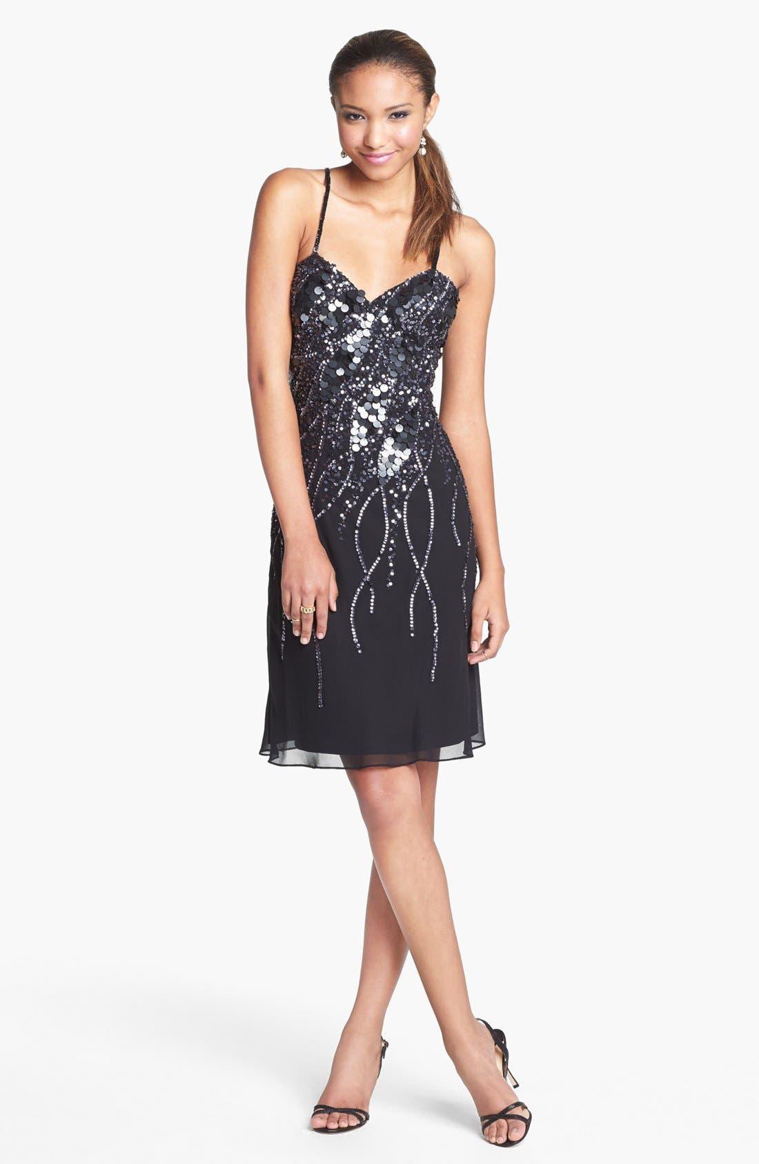 Alternate Image 1 Selected - Faviana Embellished Chiffon Dress