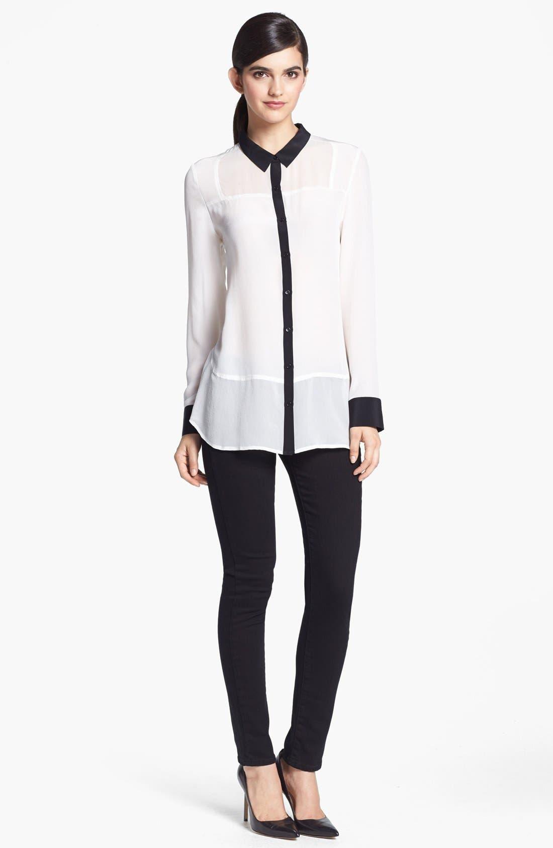 Alternate Image 1 Selected - Trouvé Shirt & Paige Denim Jeans